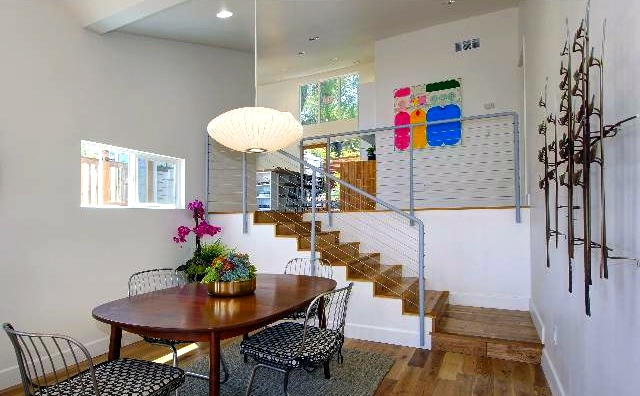 Dining and stairs to kitchen