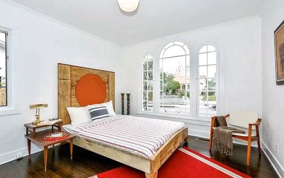 Bedroom with original windows