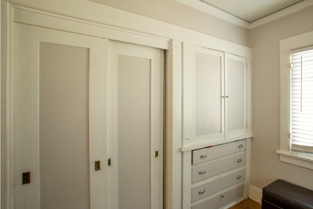 Original built-in closets