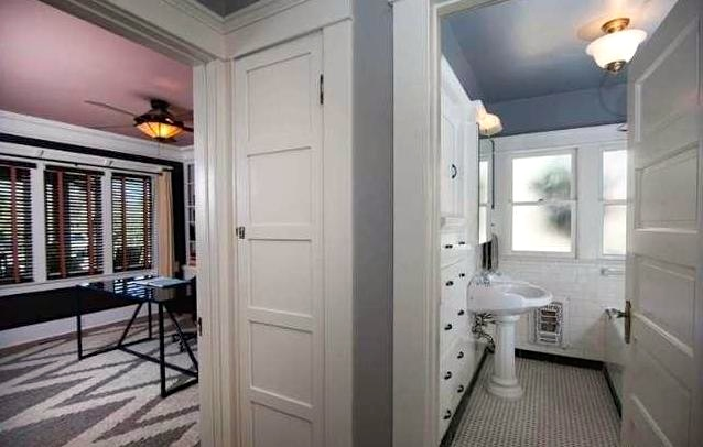 Bath with built-in closet
