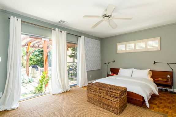 Master bedroom with patio access