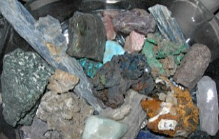 Collection of Crystals taken by Sue Ellam, London, UK