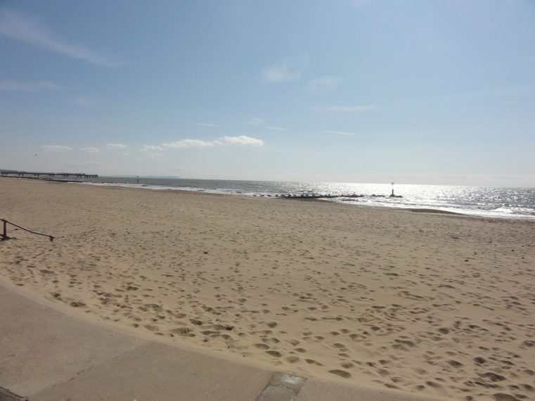 Beach at Bournemouth, UK, on a crisp Easter day. Taken by Peter Thompson