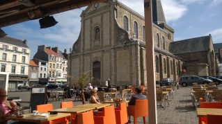 Sunny Sunday morning in Main Square, Boulogne, France. Taken by Peter Thompson
