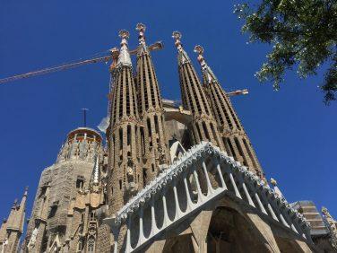 La Sagrada Familia, still under construction in Barcelona, Spain. Taken by Peter Thompson