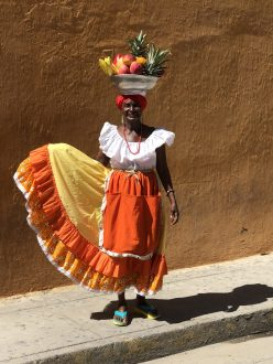 Beautiful Lady, Cartagena, Colombia. Taken by Peter Thompson