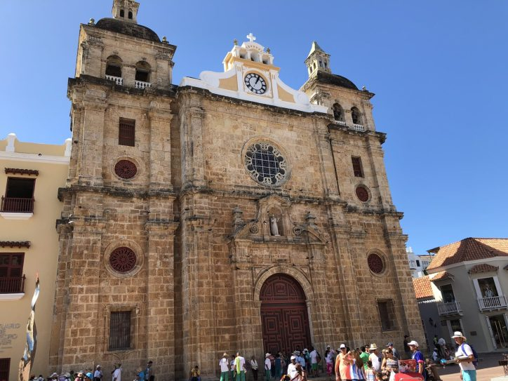 Iglesia de San Pedro Claver, Cartagena, Colombia. Taken by Peter Thompson