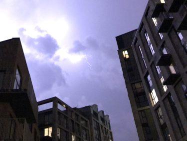 Intense Lightning in London, UK. Taken by Peter Thompson