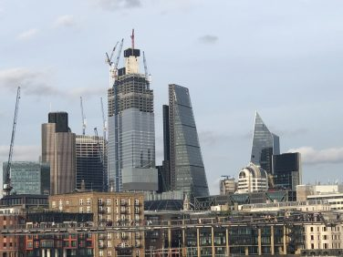 The ever-changing London skyline. Taken by Peter Thompson