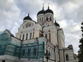 Alexander Nevsky Cathedral, Tallinn, Estonia. Taken by Peter Thompson.