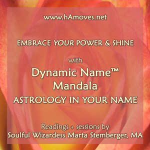 Dynamic Name Mandala: Astrology in Your Name