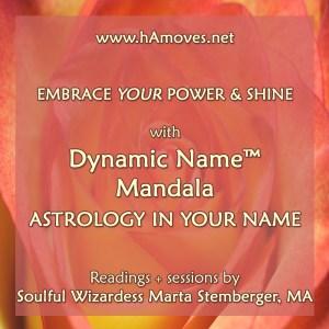 Dynamic Name Mandala: Astrology in Your Name