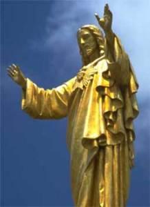 Jesus Christ golden statue