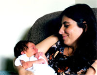 Yol Swan and baby daughter