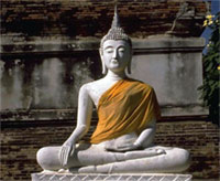 Buddha statue in meditation