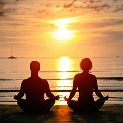 couple in love meditating