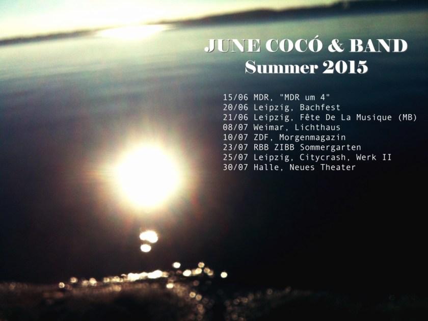 june coco tourdaten 2015