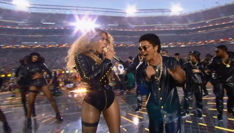 Super Bowl 50 Halftime Show Codplay Beyoncé Bruno Mars Mark Ronson