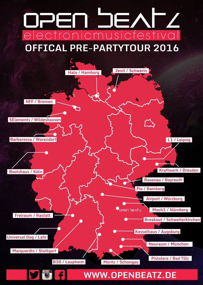 open beatz pre-party tour