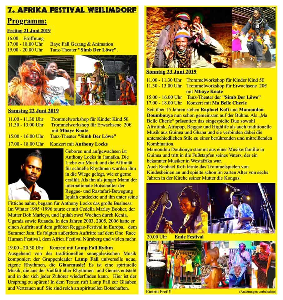 Veranstaltungstipp: 7. Afrika Festival vom 21.- 23. Juni 2019 in Stuttgart Weilimdorf