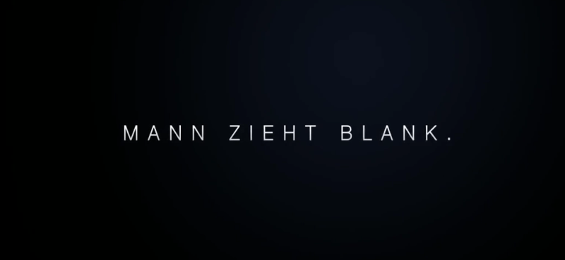 MANN ZIEHT BLANK.