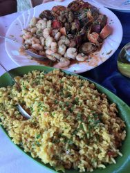 Langosta (lobster), Camerones (shrimp) and Arroz (rice)