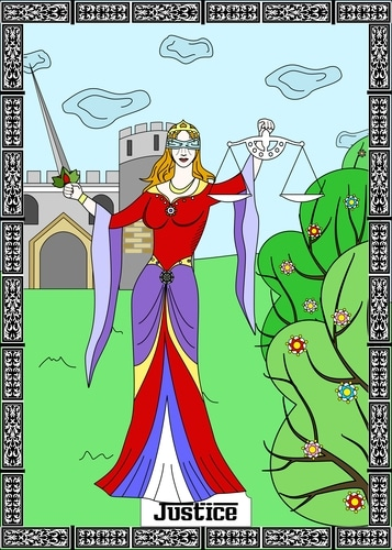 Justice Tarot Card in a Soulmate Tarot Reading