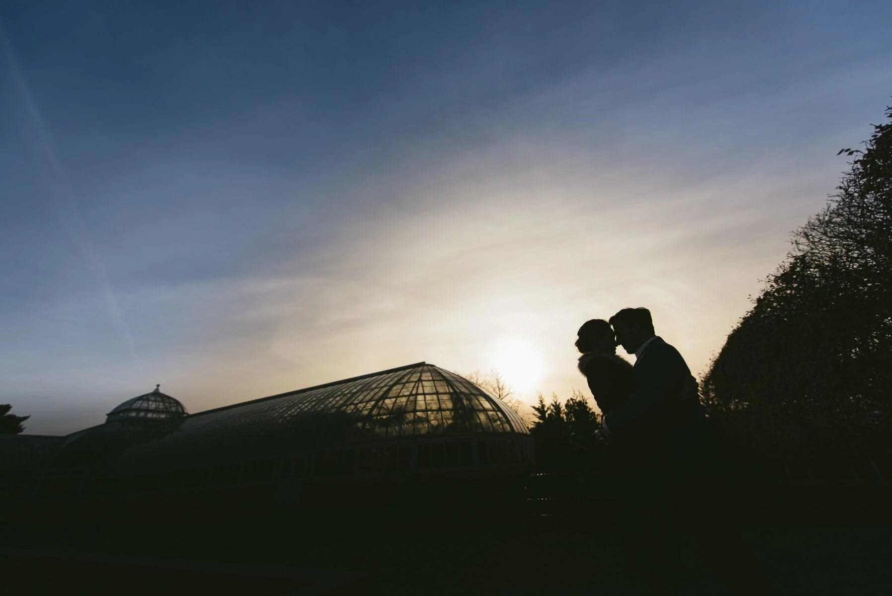 Bronx Botanical Garden engagement photos
