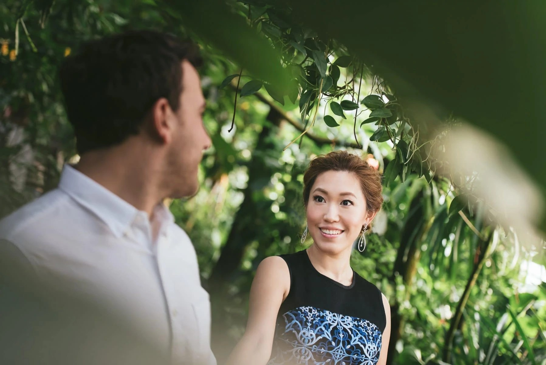 Bronx Botanical Garden engagement session