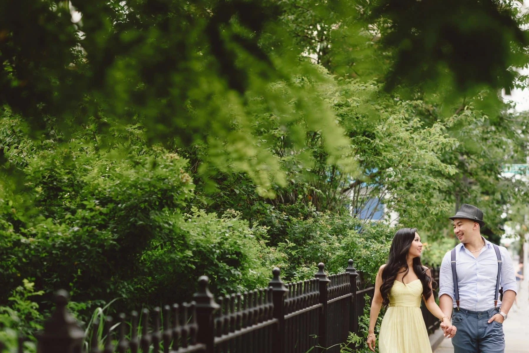 Dumbo waterfront engagement session