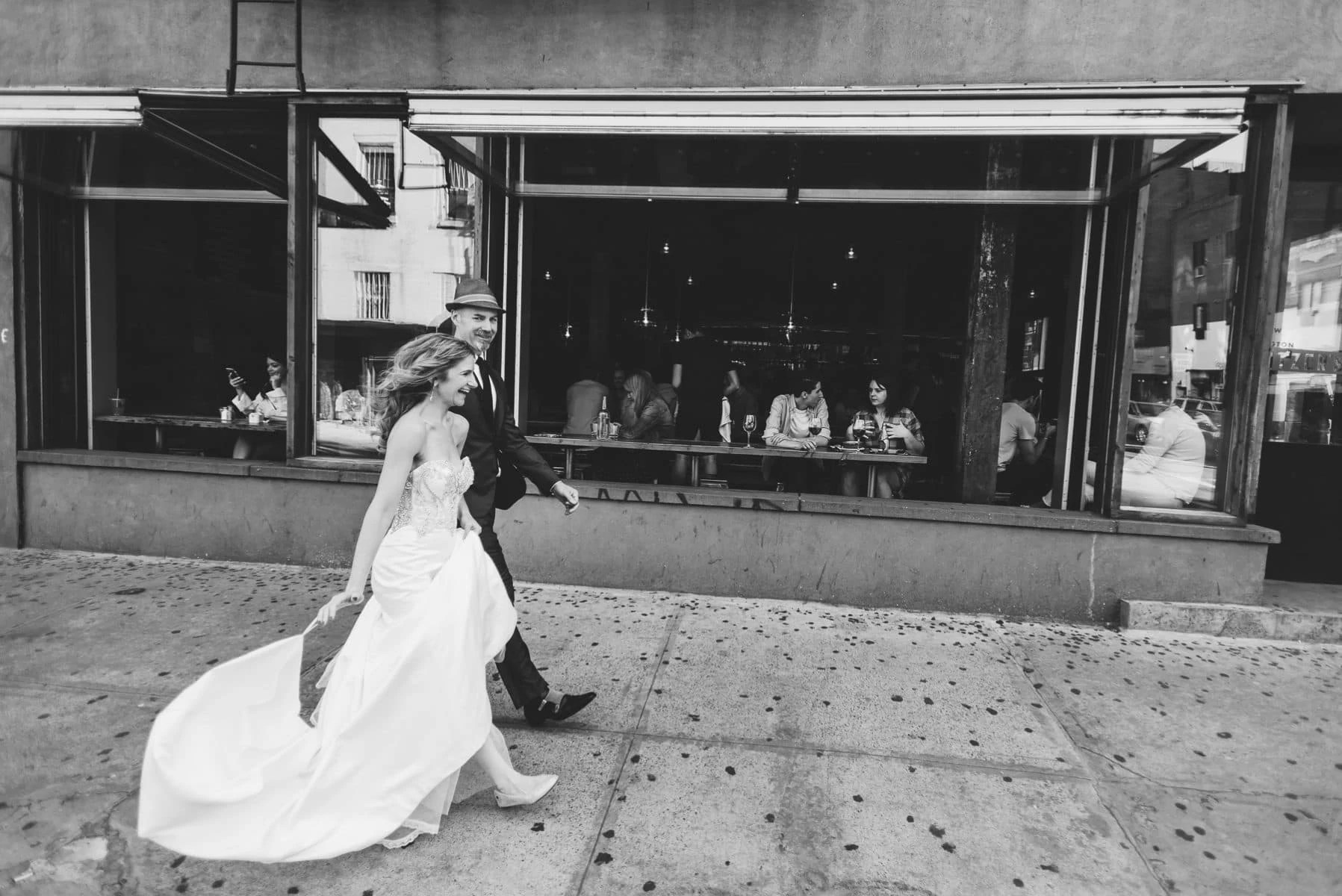 capturing the moment of the wedding in East Village