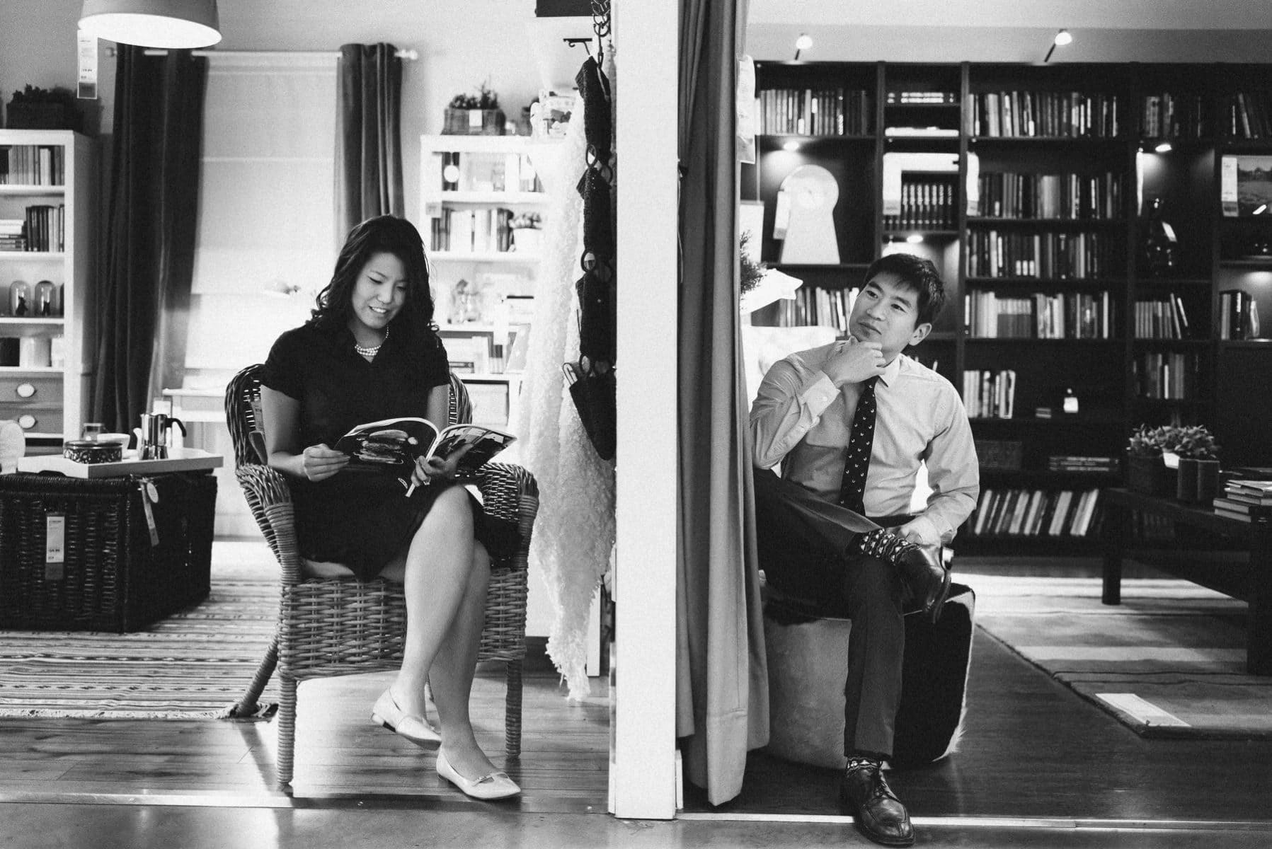 Ikea Brooklyn engagement session