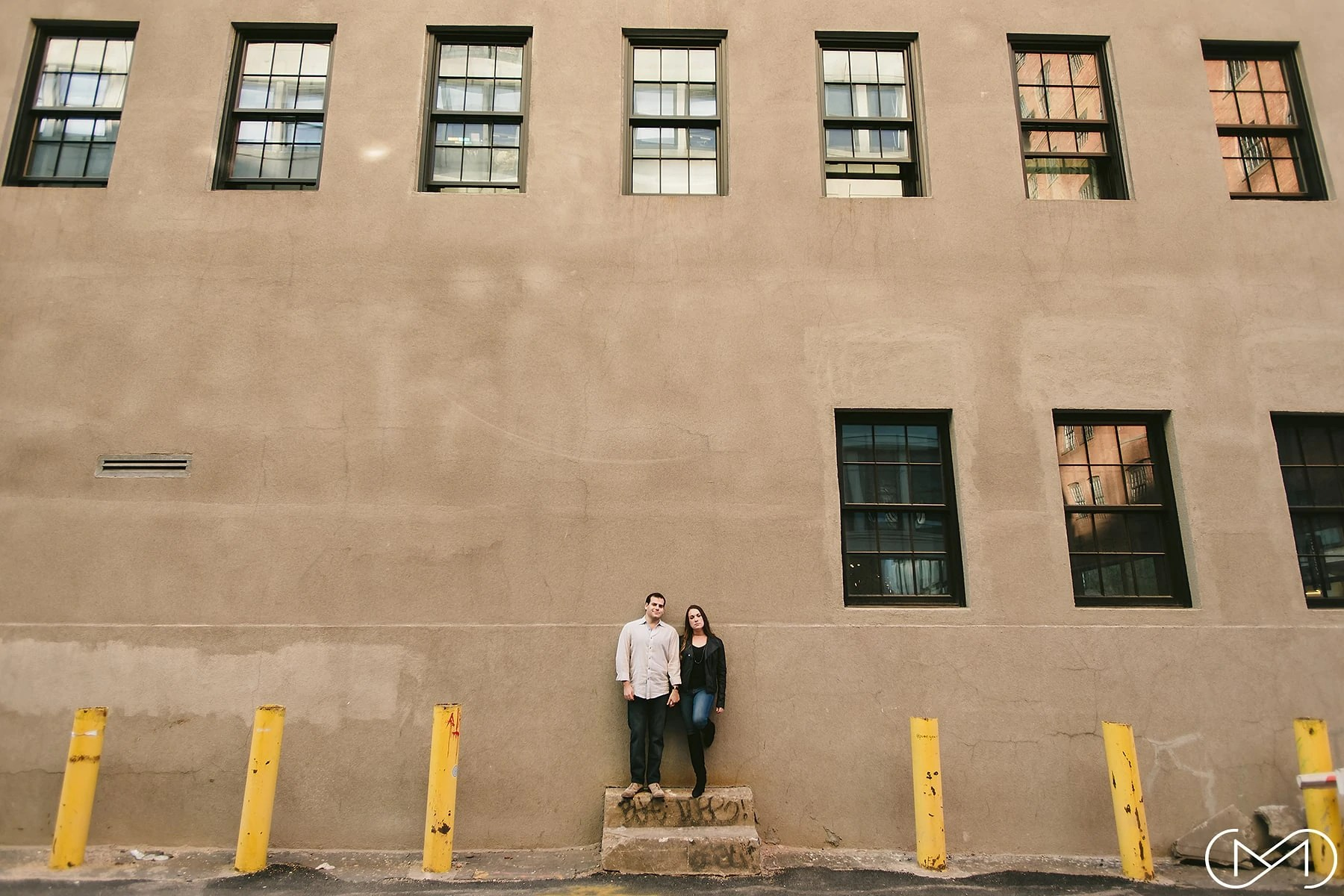 Dumbo couple engagement shoot