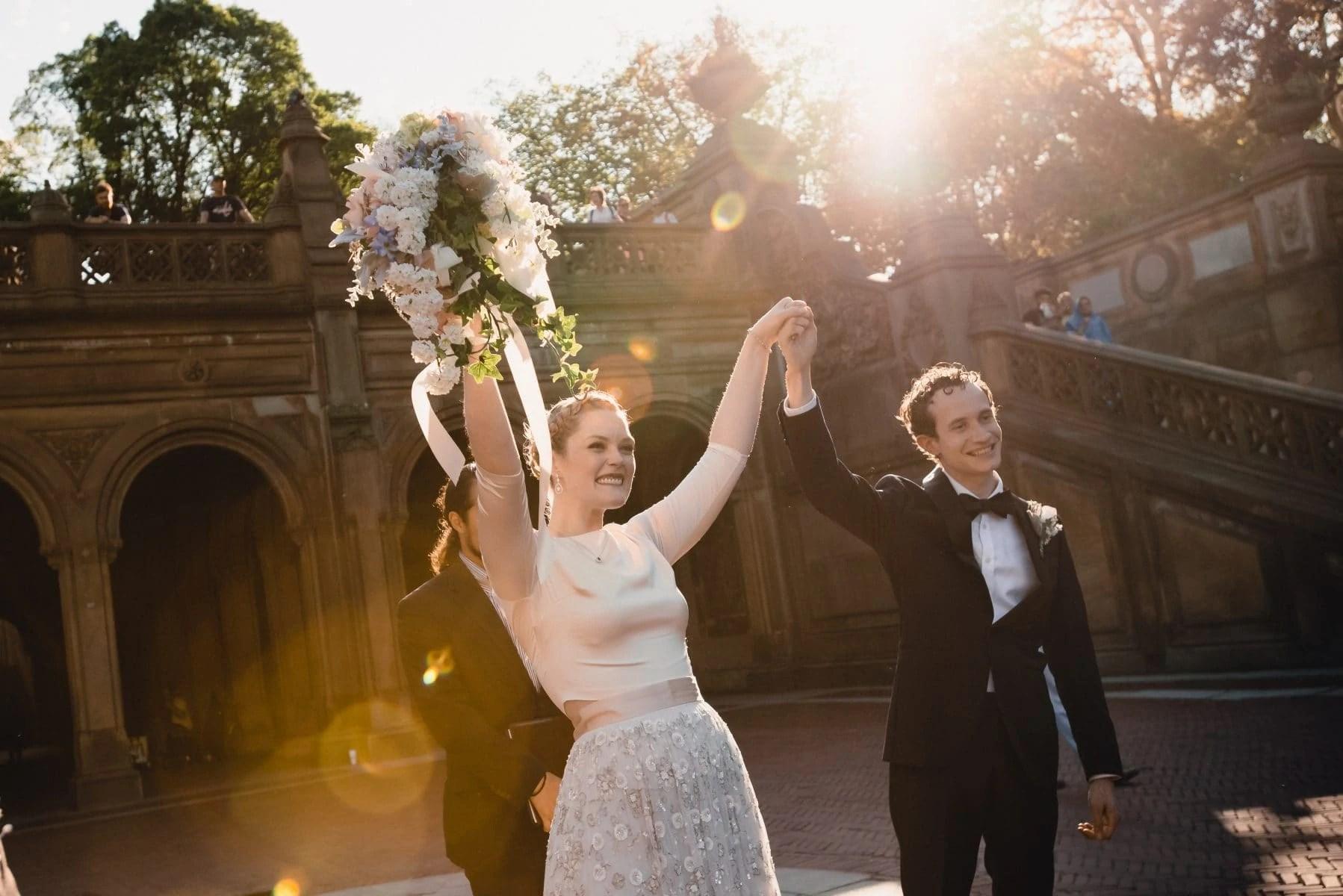 Central Park Elopement Wedding photos