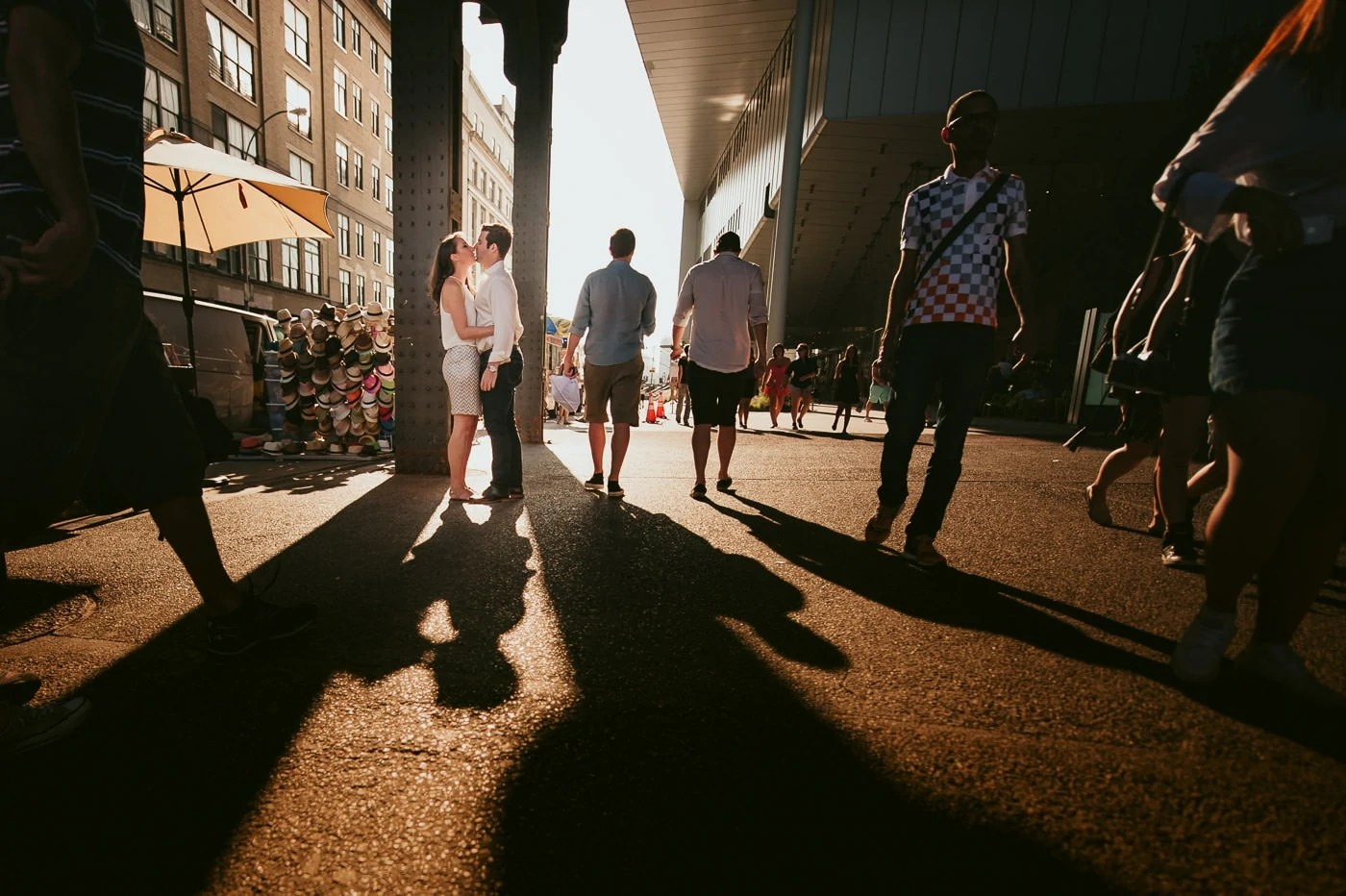 Meatpacking District sunset engagement