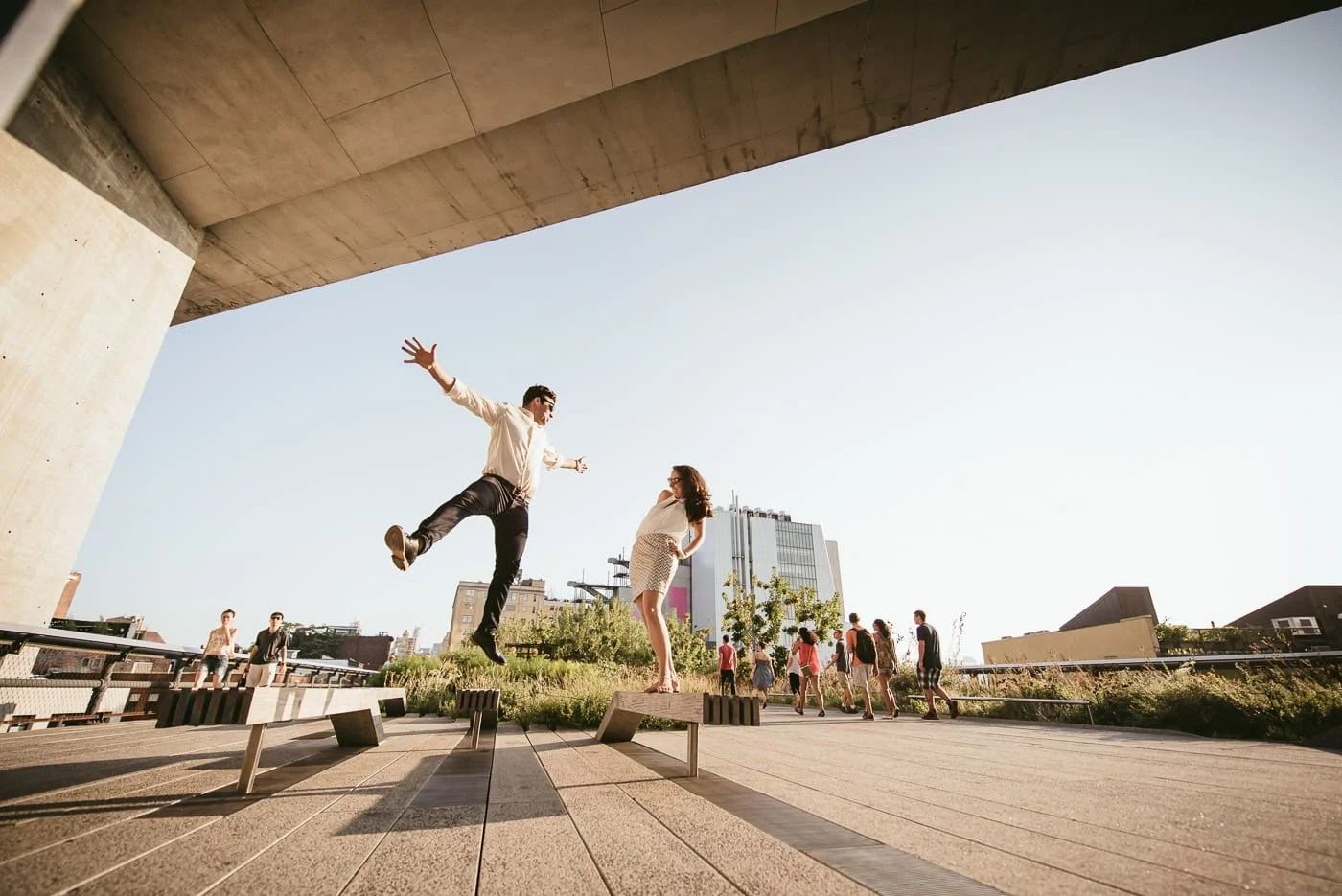 Fun Highline Park Engagement