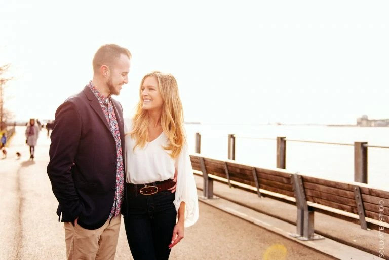 New York Engagement Session Elegant Outfits