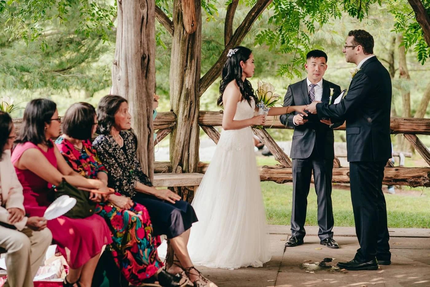 Central Park Cop Cot Elopement Wedding