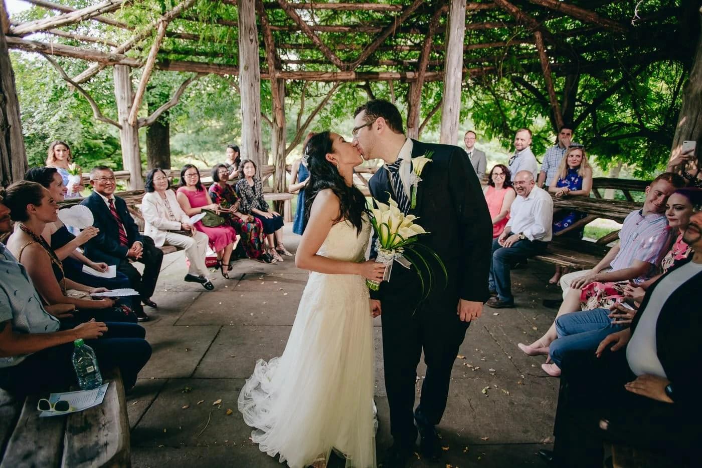Central Park Cop Cot Wedding