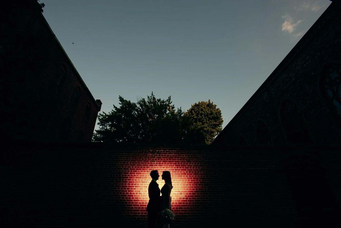 Creative Elopement Wedding Portrait