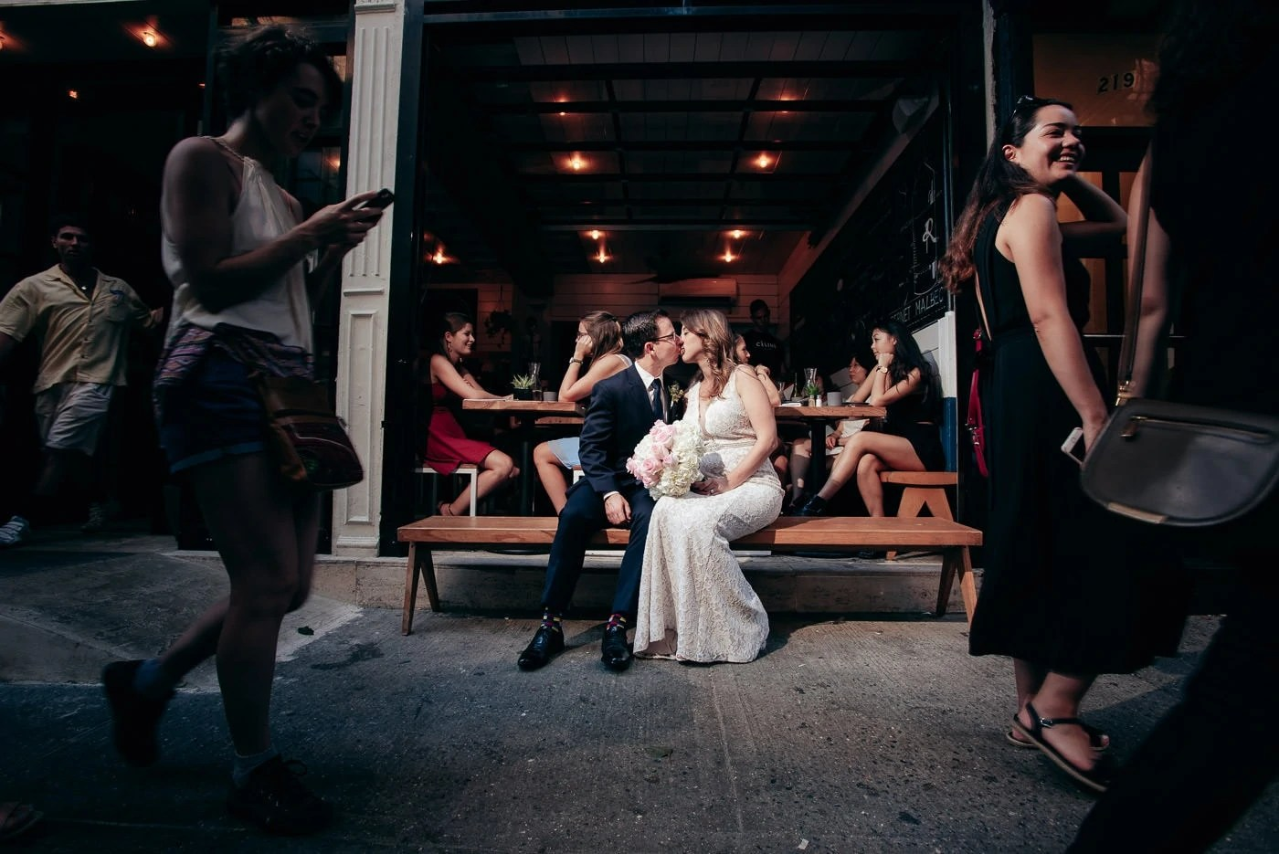 Manhattan Elopement Wedding Portrait
