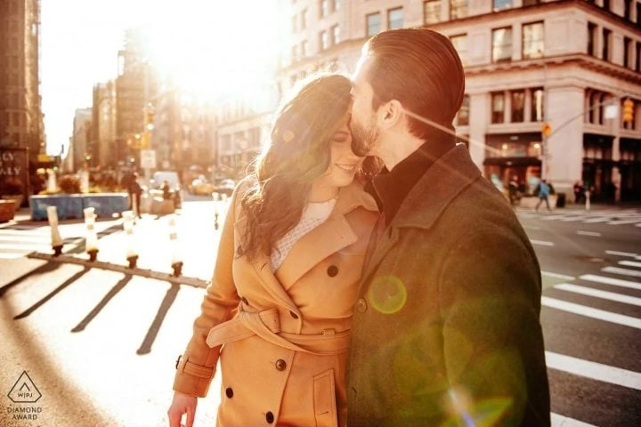 Manhattan SOHO Creative engagement portrait