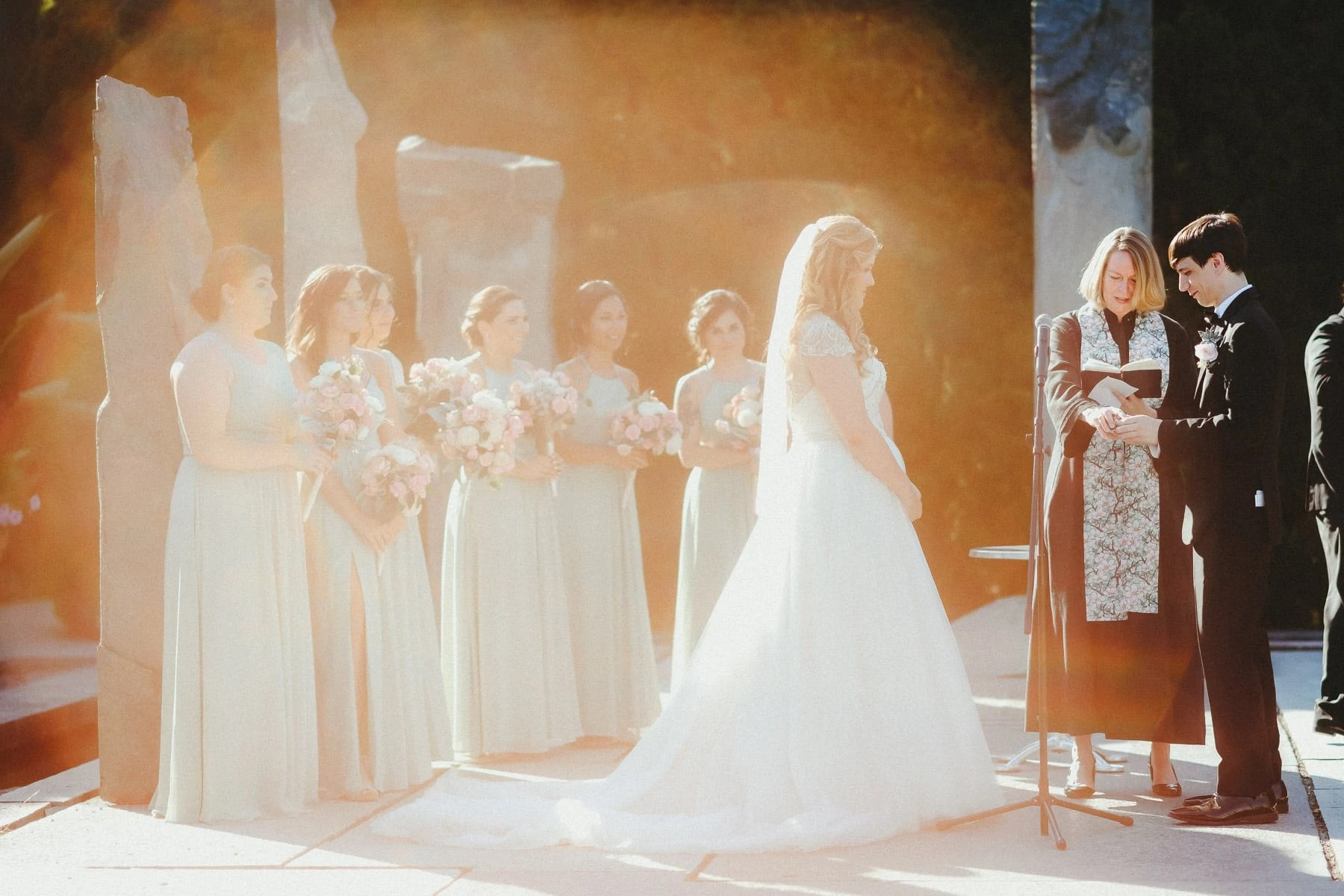 Wedding ceremony at the Nine Muses location