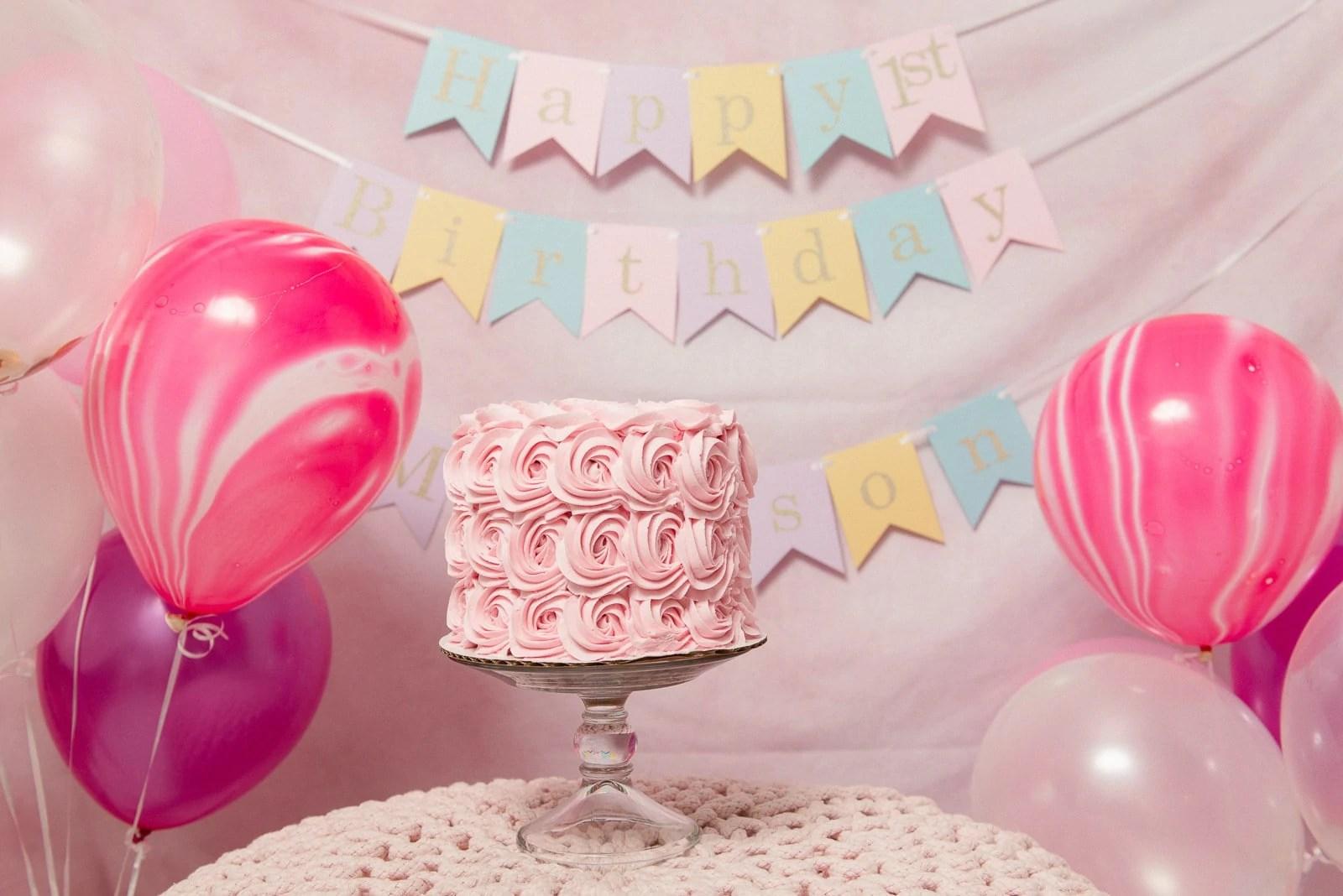 Little baby girl birthday cake