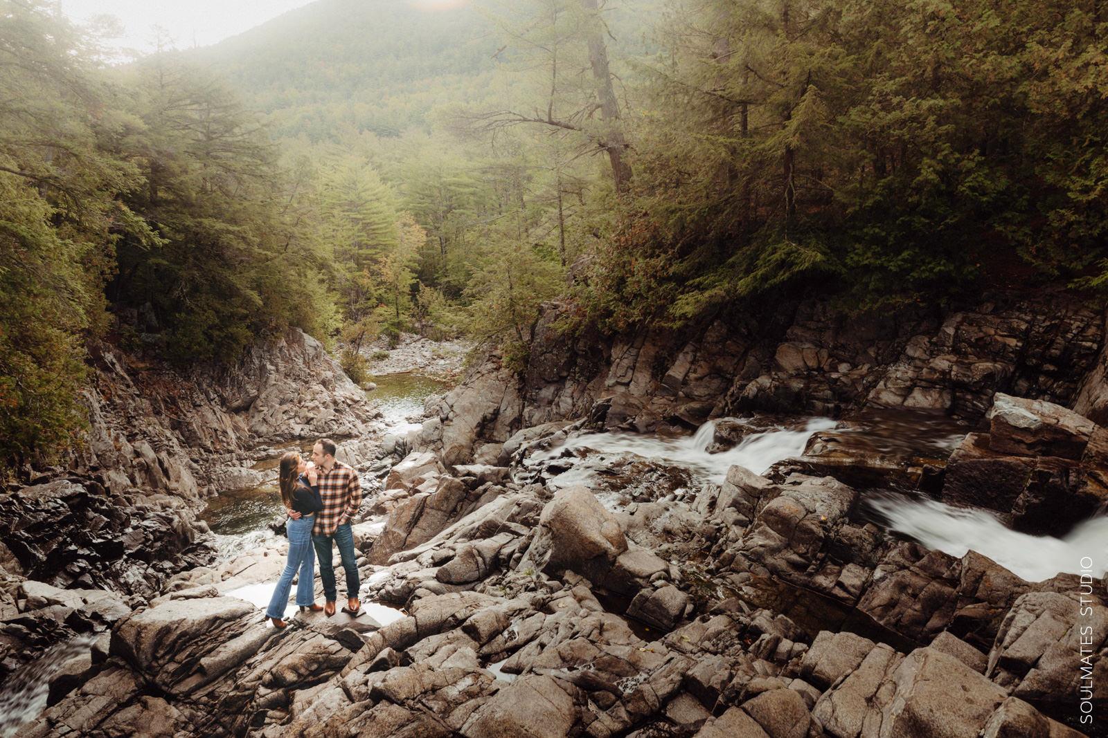 Adirondack Mountains Adventure Engagement Session