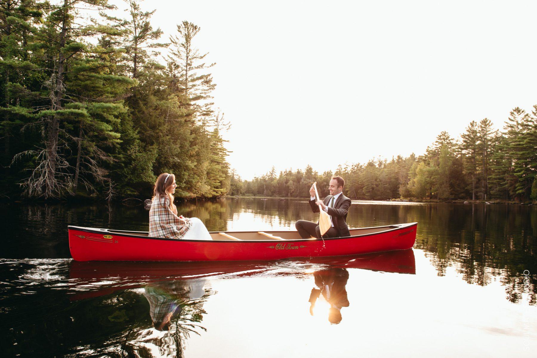 Adirondacks Lake Placid Canoe Wedding