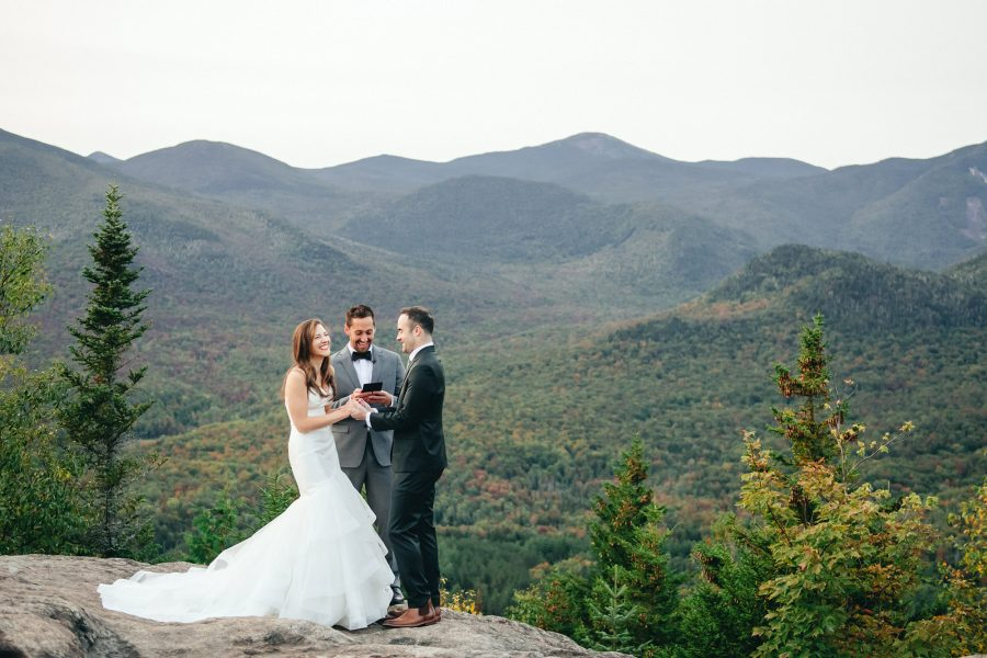 Adirondacks Mt. Jo Elopement Wedding Ceremony