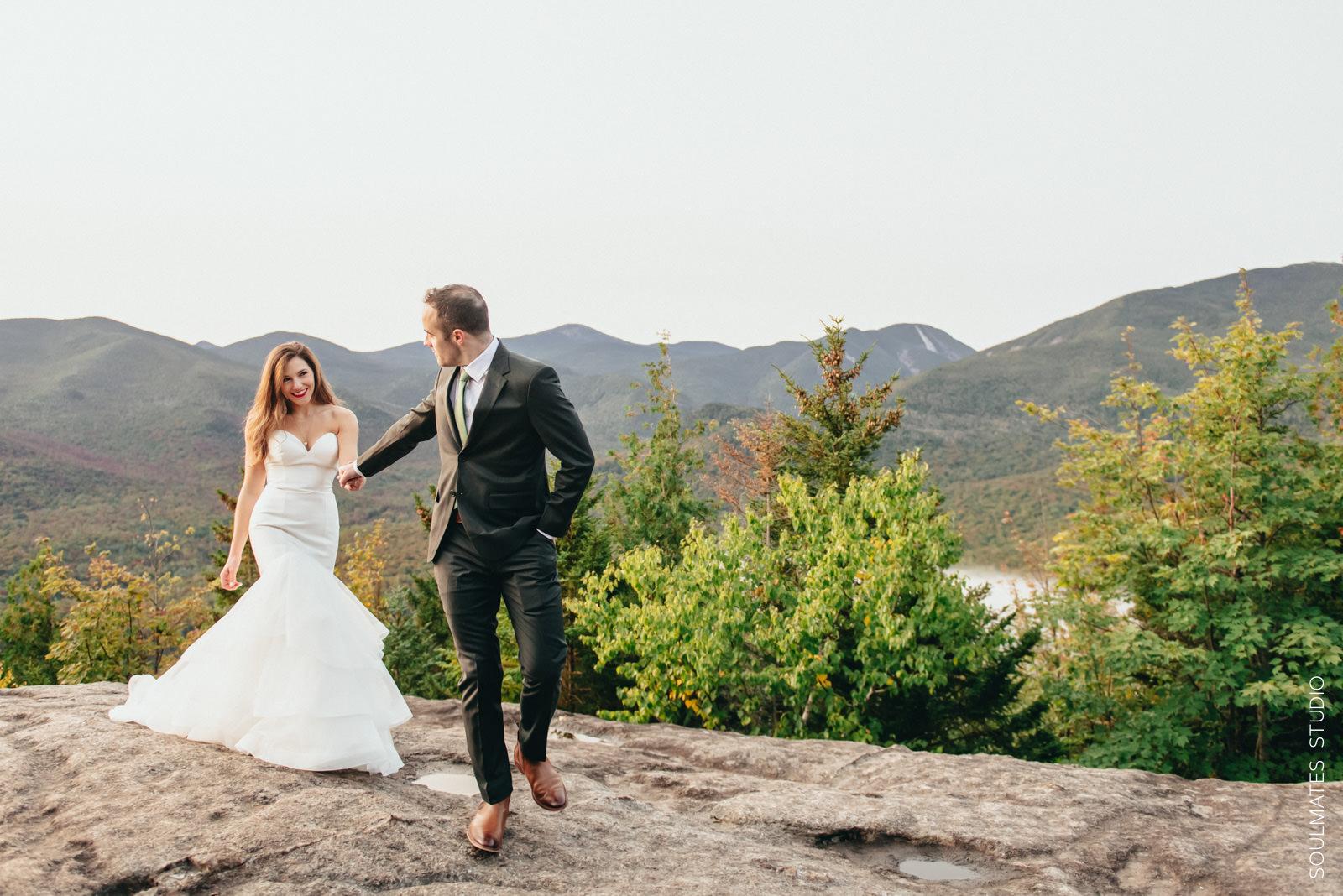 Adirondacks Mt. Jo Wedding portrait