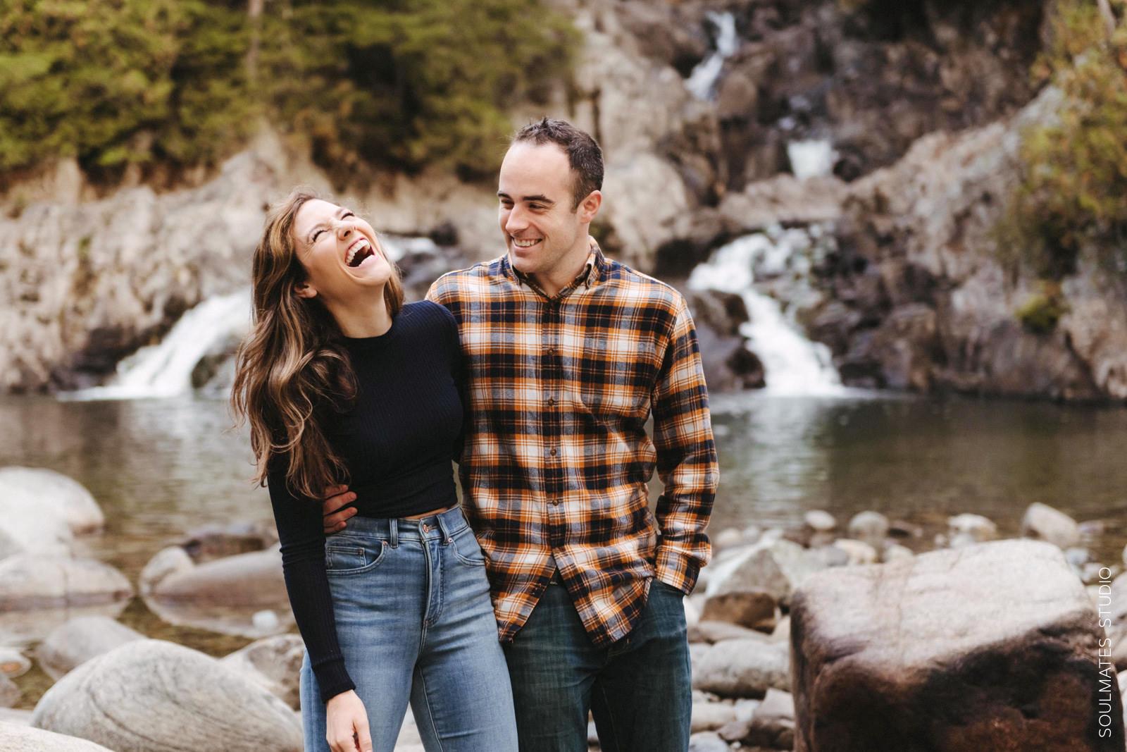 Adirondacks Waterfall Engagement Session