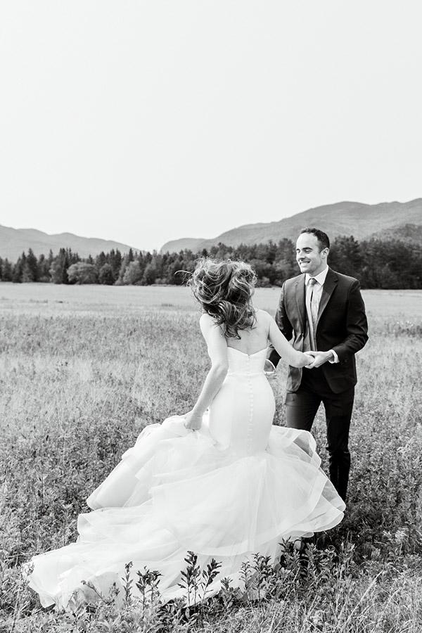 Adirondacks Elopement Wedding first dance